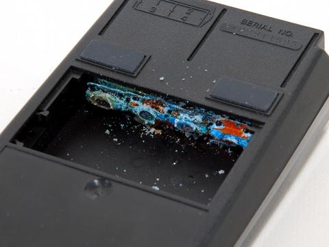 Korrodiertes HP-41 Batteriefach