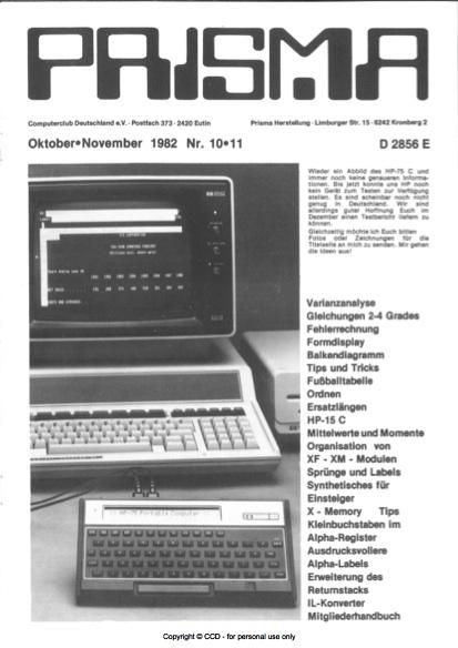 Prisma Zeitschrift Heft 10/11 - Oktober/November