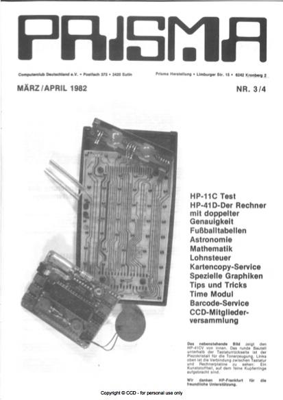 Prisma Zeitschrift Heft 3/4 - März/April