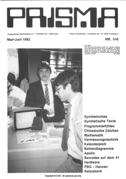 Prisma Zeitschrift Heft 5/6 - Mai/Juni