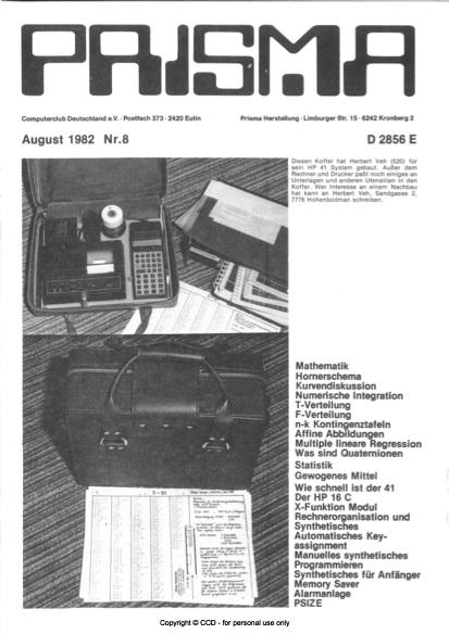 Prisma Zeitschrift Heft 8 - August