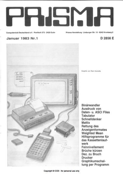 Prisma Zeitschrift Heft 1 - Januar