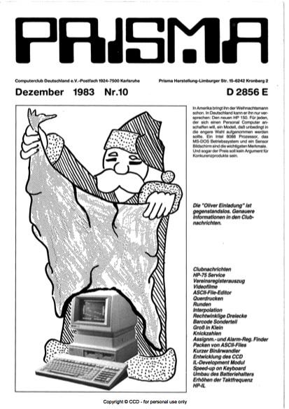 Prisma Zeitschrift Heft 10 - Dezember
