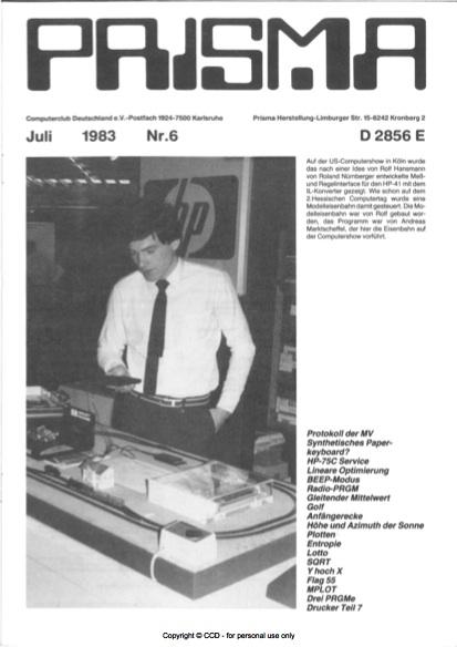 Prisma Zeitschrift Heft 6 - Juli