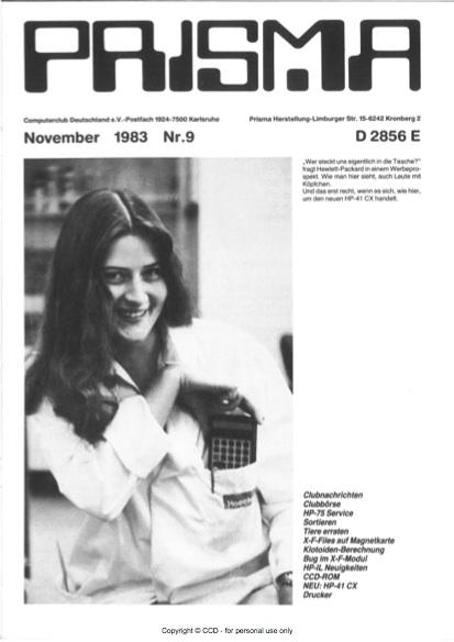 Prisma Zeitschrift Heft 9 - November