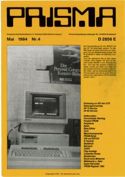 Prisma Zeitschrift Heft 4 - Mai
