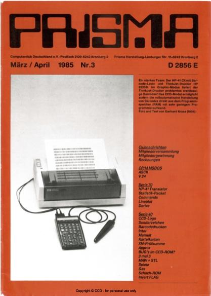 Prisma Zeitschrift Heft 3 - März/April