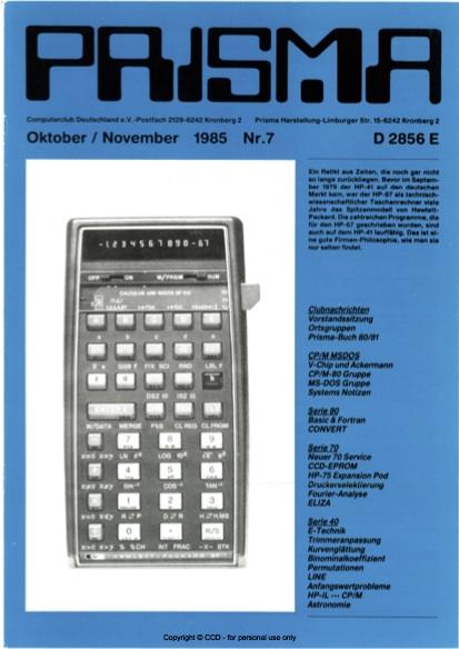 Prisma Zeitschrift Heft 7 - Oktober/November