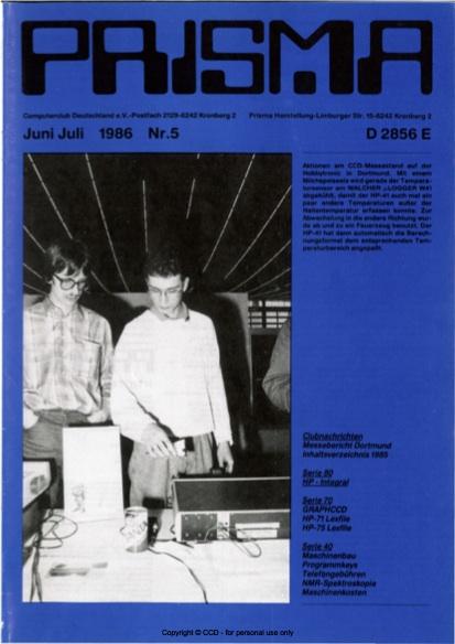 Prisma Zeitschrift Heft 5 - Juni/Juli