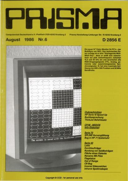 Prisma Zeitschrift Heft 6 - August