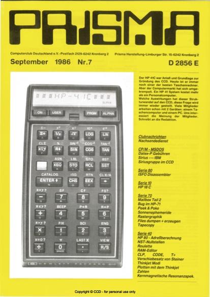 Prisma Zeitschrift Heft 7 - September