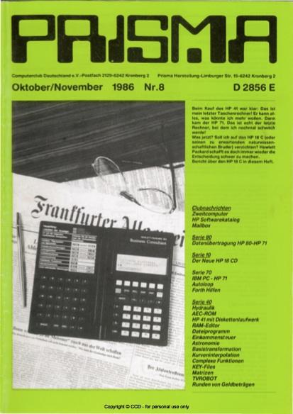 Prisma Zeitschrift Heft 8 - Oktober/Dezember