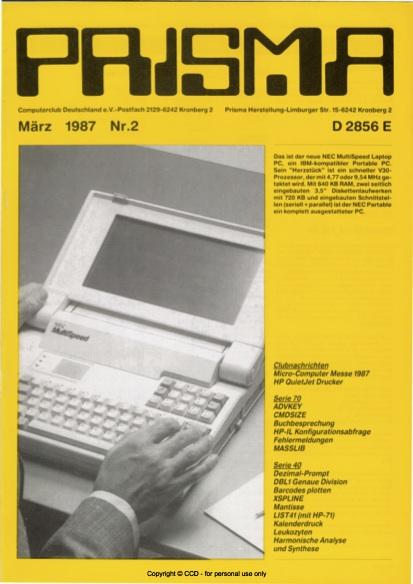 Prisma Zeitschrift Heft 2 - März