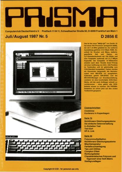 Prisma Zeitschrift Heft 5 - Juli/August