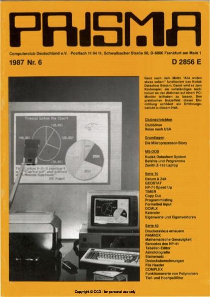 Prisma Zeitschrift Heft 6 - September/Dezember