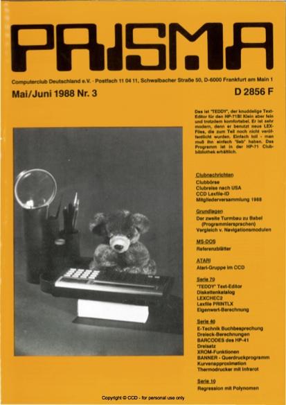 Prisma Zeitschrift Heft 3 - Mai/Juni