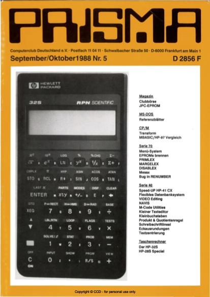 Prisma Zeitschrift Heft 5 - September/Oktober