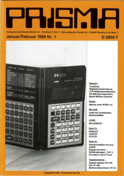 Prisma Zeitschrift Heft 1 - Januar/Februar
