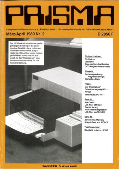 Prisma Zeitschrift Heft 2 - März/April