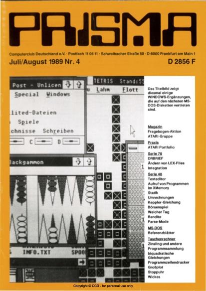 Prisma Zeitschrift Heft 4 - Juli/August