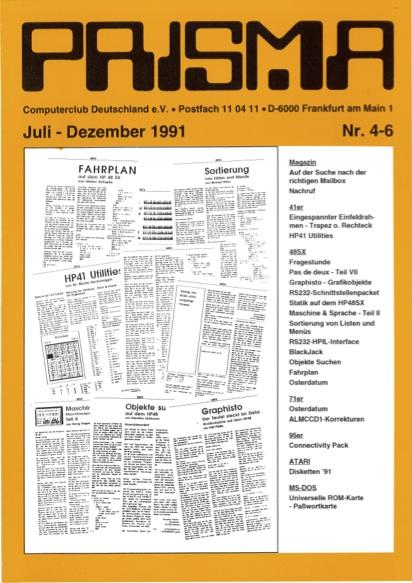 Prisma Zeitschrift Heft 4-6 - Juli/Dezember