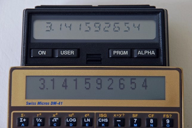 DM-41/HP-41 Kontrastvergleich