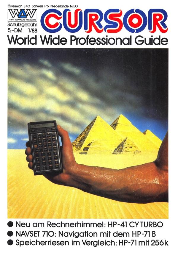 W&W CURSOR 88/1 Titelseite