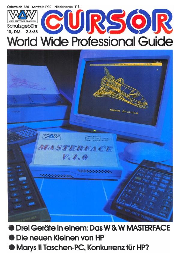 W&W CURSOR 88/2-3 Titelseite