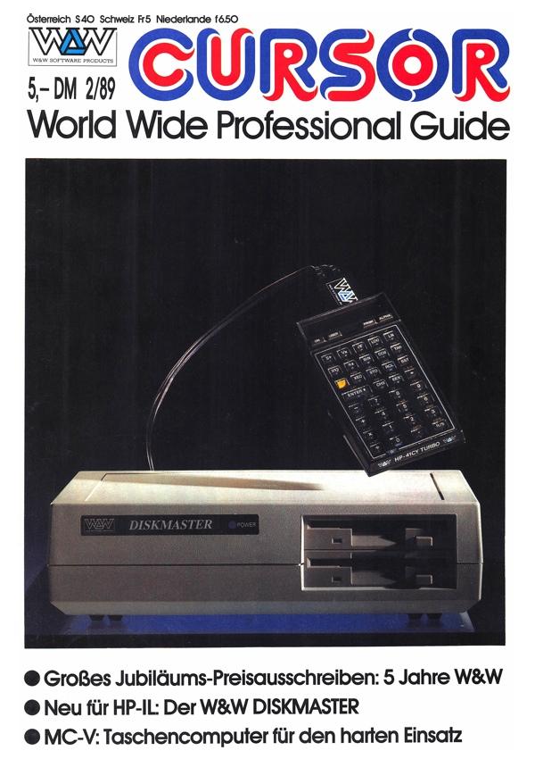 W&W CURSOR 89/2 Titelseite